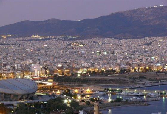 Вид на Афины из Пирея