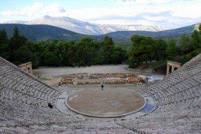 Античный театр в Эпидавре, Пелопоннес, Греция