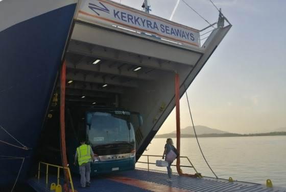 Автобус Корфу-Афины