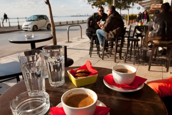 Леофорос Никис - одно из лучших мест в Салониках для кофе