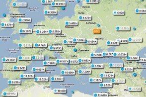 Карта лучших цен особенно понравится тем, кто еще не определился с направлением для отпуска