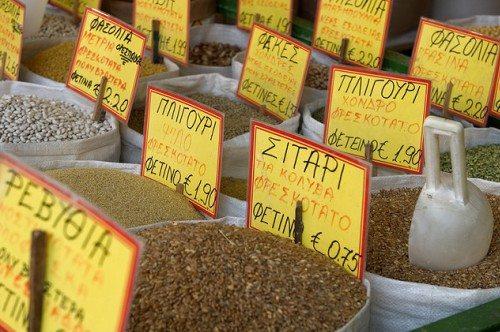 Цены на рынках определяют количество денег, которе нужно брать с собой в Грецию