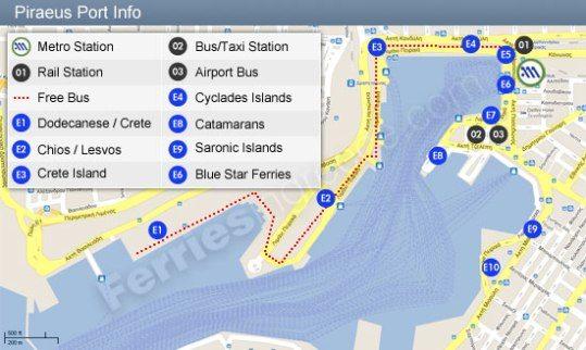 остановка автобуса Е96 в порту
