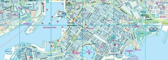 Карта Афинского порта Пирей