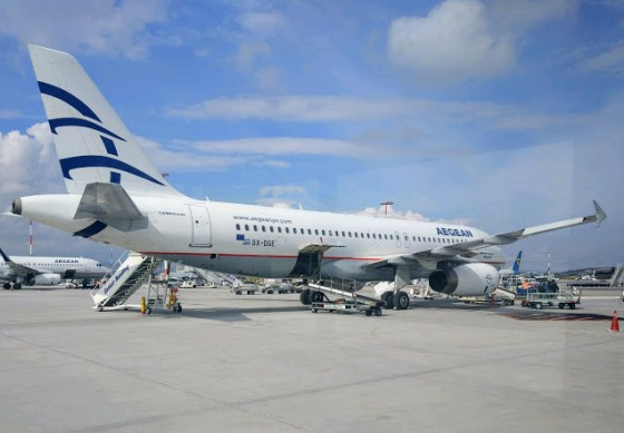 Самолеты из Афин на Санторини