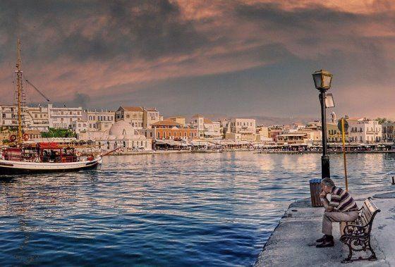 Крит зимой