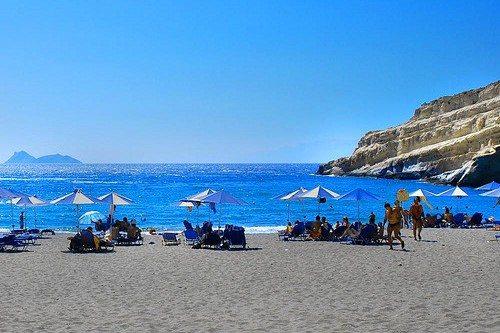 Крит в июле является одним из самых жарких месяцев в году
