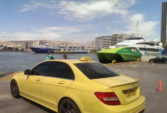 Такси в порту Пирей