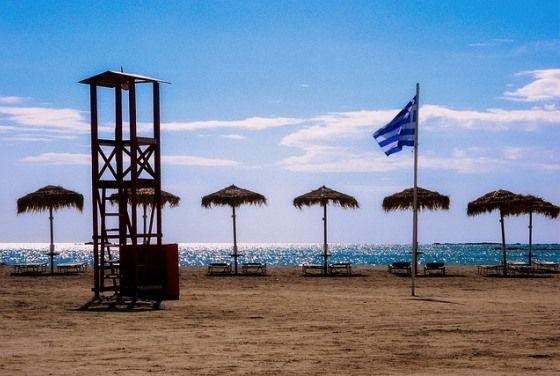 Пляж на Крите в октябре