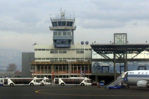 Аэропорт Салоник (Македония). Вид снаружи