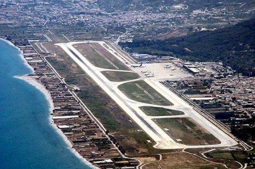 Аэропорт Родоса с высоты птичьего полета