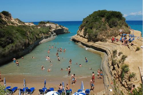 Пляж Сидари на Корфу