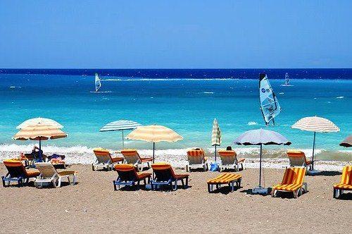 Пляжи Фалираки, фото, остров Родос, Греция