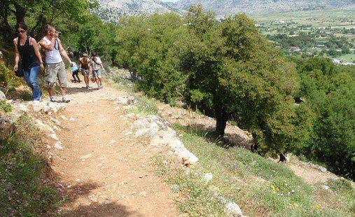 К пещере Зевса ведет очень крутая тропа