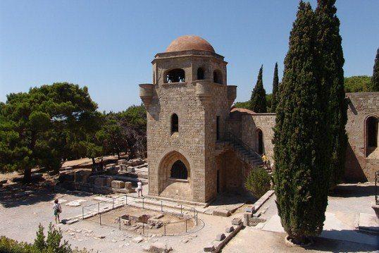Храм Богородинцы на горе Филеримос, остров Родос