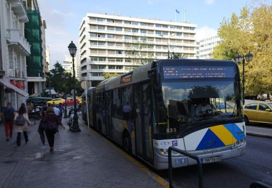 До центральной площади Синтагма следует маршрут X95