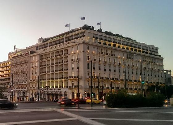 Отель Grande Bretagne находится прямо на главной площади