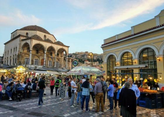 Площадь Монастираки в Афинах