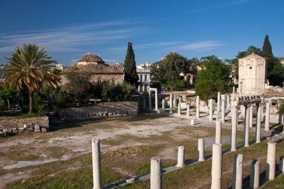 Римская Агора в центре Афин