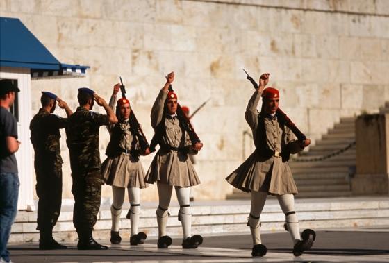 Президентская гвардия в центре Афин