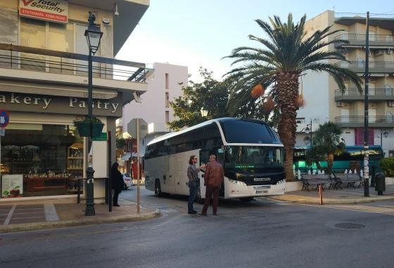 Автобус Лутраки Афины