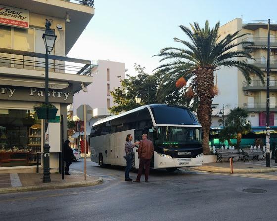 Автобус из Афин до Лутраки