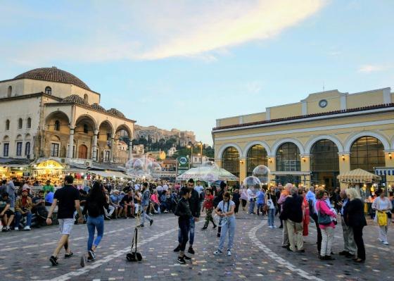 Афины в октябре