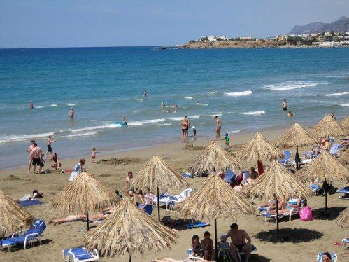 Пляж Макриялос на Крите