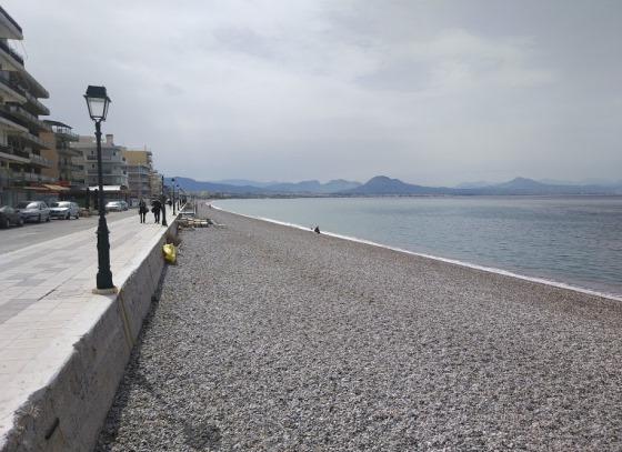 Пляжи Греции зимой