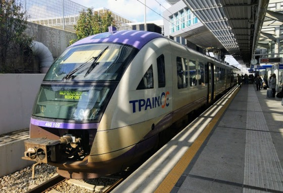 Поезд до Пирея из аэропорта Афин