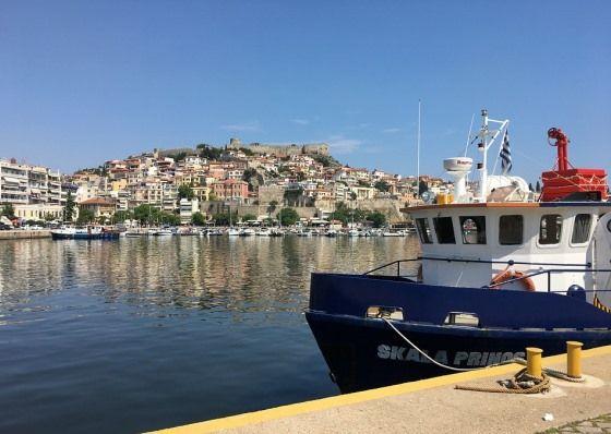 Город Кавала в Греции