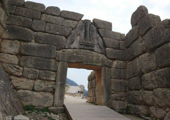 Львиные ворота в Микенах