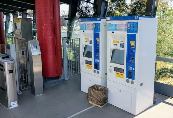 Приобрести билеты на проезд можно в автоматах на станциях метро.