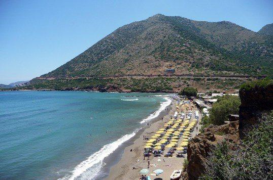 Пляж Ливади на курорте Бали, остров Крит