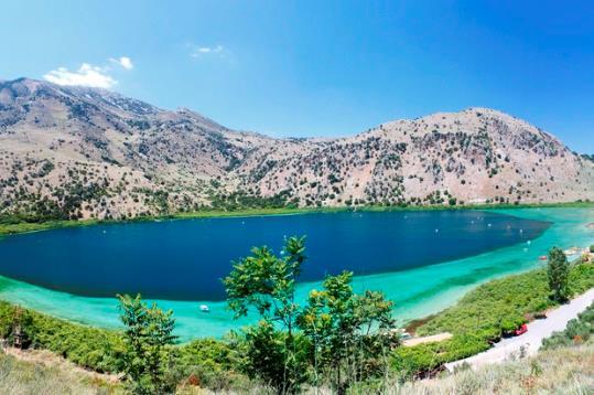 Курнас - крупнейшее пресноводное озеро на Крите
