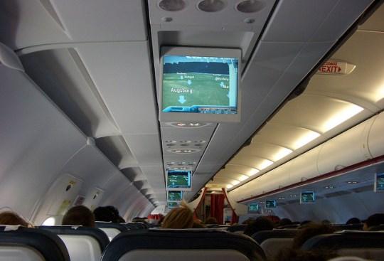 Самолет Эгейских авиалиний внутри