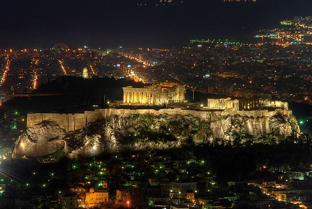 Посещение холма Ликабет может стать завершающей точкой маршрута по Афинам за 1 день