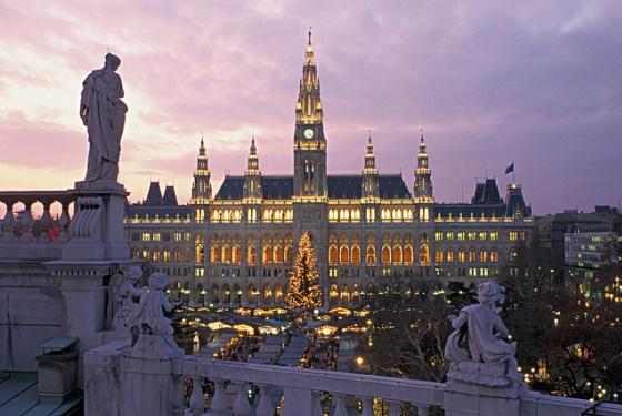Праздничная иллюминация в Вене