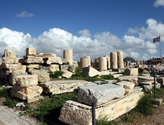 Афинский Акрополь: храм Ромы и Августа