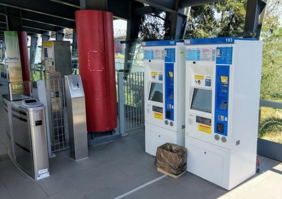 Билетные автоматы для транспорта в Афинах